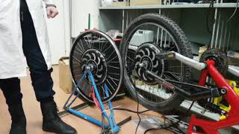 Сравнение свободного вращения мотор-колеса Дуюнова и безредукторного BLDC