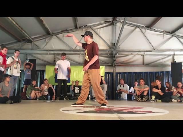 Ruslan Twist (GFF Comunity / Russia) Judge Demo @Ghetto dance battle Latvia