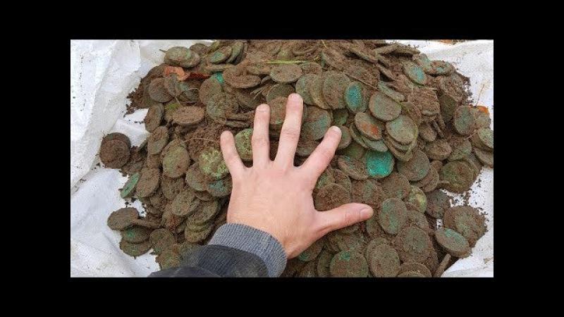 НЕВЕРОЯТНЫЙ КЛАД Полный ЧУГУН медных монет ВЕСОМ 50 КИЛОГРАММ