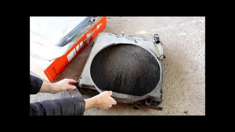Toyota Dyna Тойота Дюна 1996 года Замена радиатора охлаждения двигателя