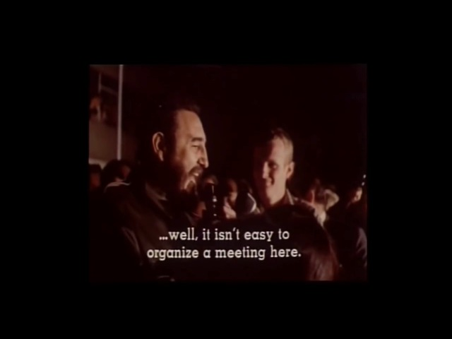 Fidel Castro's speech at the Cracow student town during his visit to People's Poland Republic 1972.