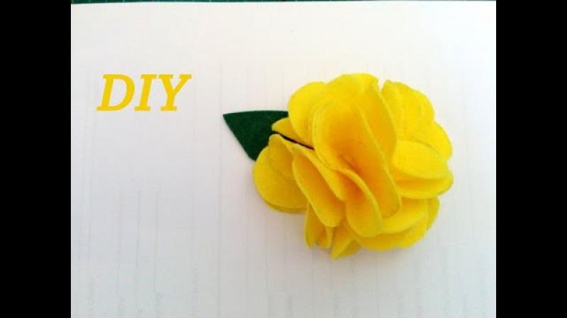 FLOR DE FIELTRO FACIL Y RAPIDA, Felt flower fast.