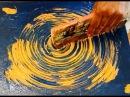 Abstract art Blue Orange Circle Techniques