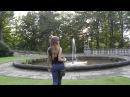 Smoking Girl at a Fountain
