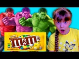 Bad Baby takes Candy IRL HULK Learns colors with M&ampM CANDY! Johny Johny Yes Papa song Nursery Rhymes