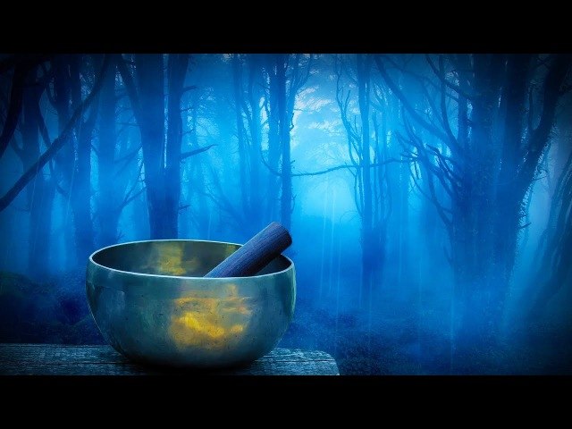 Rain in Woods Tibetan Bowls | Relax, Study or Sleep with White Noise Music | 10 Hours