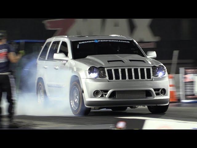Twin Turbo SRT8 Jeep Runs Over Every Truck on the Premises 🐌 🐌
