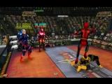 Капитан Америка, Железный Человек, Дэдпул и Кейбл против Бэтмена, Супермена, Дезстроука и Стали