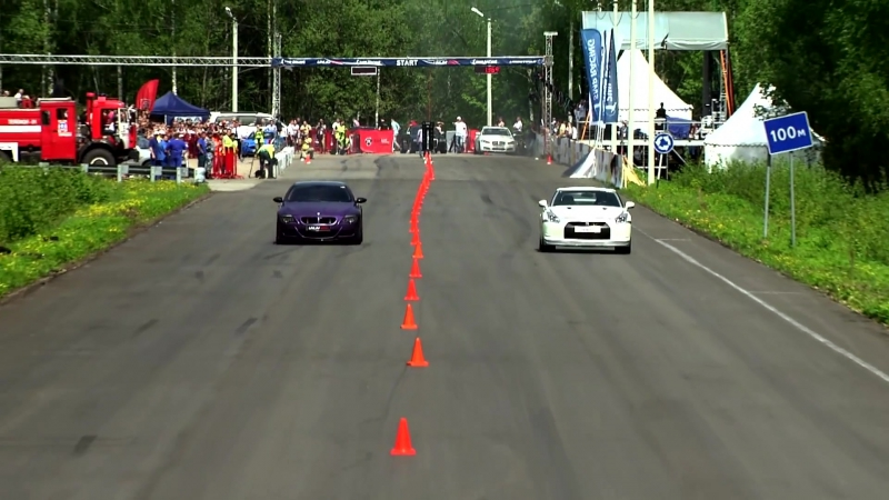 Заезд BMW M6 ESS VT3 против Nissan GT-R MK.1 AMS