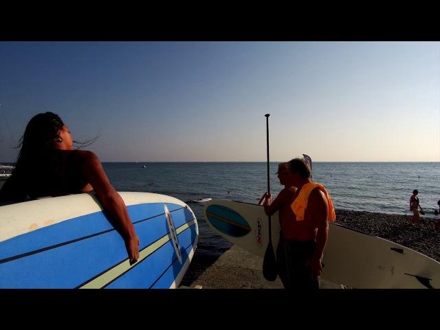 SUP Surfing (сап серфинг) и windsurfing (виндсёрфинг) в Сочи