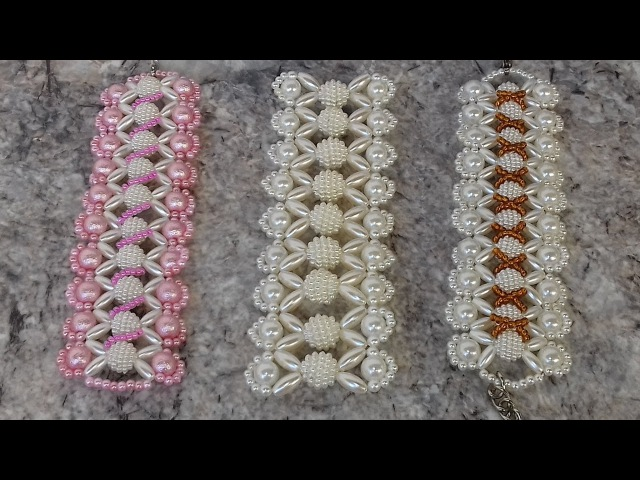 Como fazer 3x1 - pulseira de perola e arrozinho - Adriana Valério