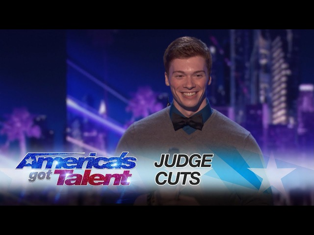 Daniel Ferguson: Impressionist Sings Maroon 5 Song As Several Characters - America's Got Talent 2017
