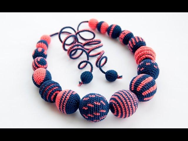 Как связать бусы в стиле Евровидения 2017 Crochet Necklace Eurovision 2017