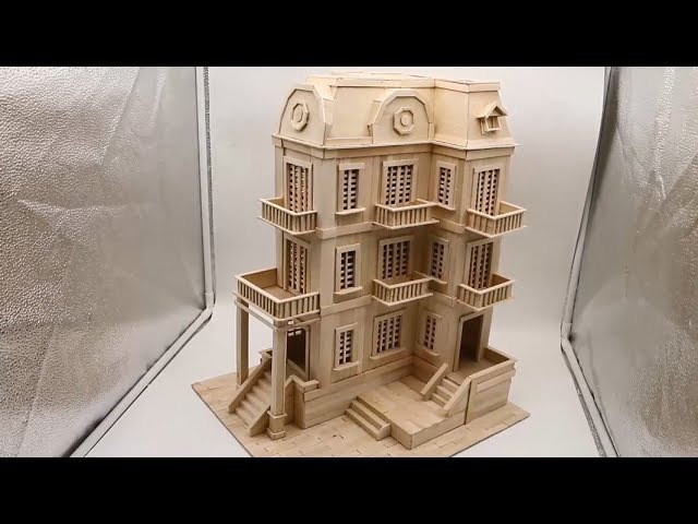 Building popsicle stick Mansion House Popsicle Stick Edifice Architecture смотреть онлайн без регистрации