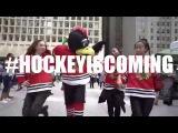 Blackhawks Flash Mob at Daley Plaza