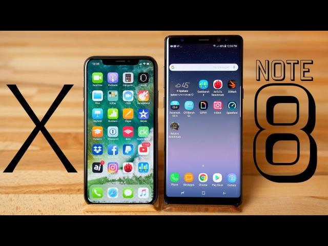 IPhone X vs Galaxy Note 8 Benchmark Comparison