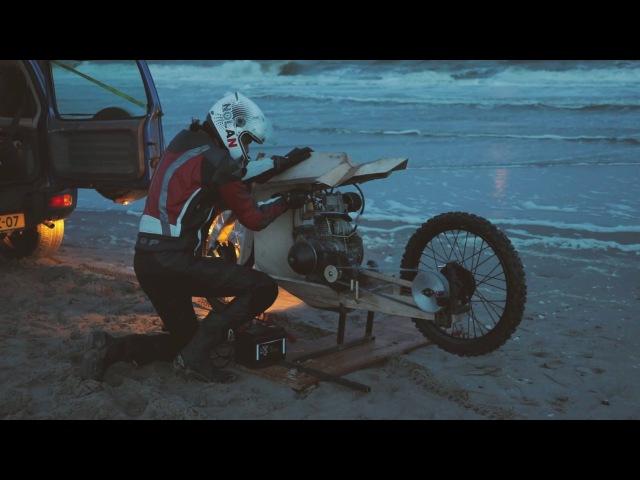 Wooden Motorcycle That Runs On Algae Oil