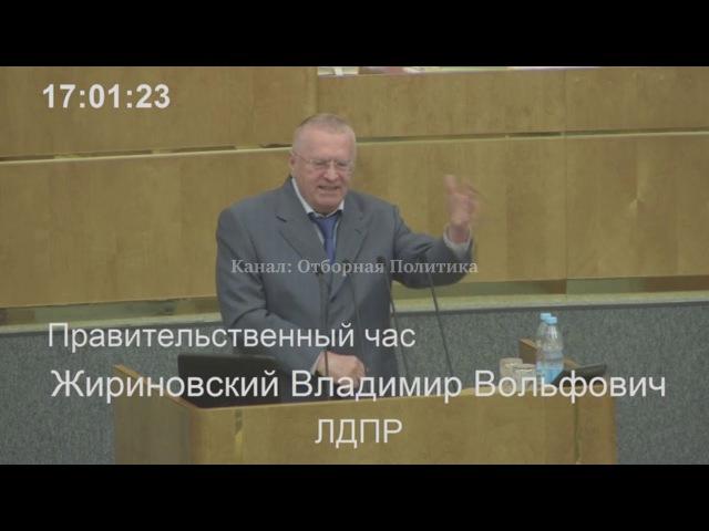 Жириновский в Думе: Пока Безработица - Будет Преступность! | (Госдума)
