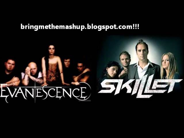 Skillet vs. Evanescence - I'm Not Awake and Alive Bring Me To Life (Mashup)