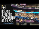Iceland Finland fans united 06.09.2017
