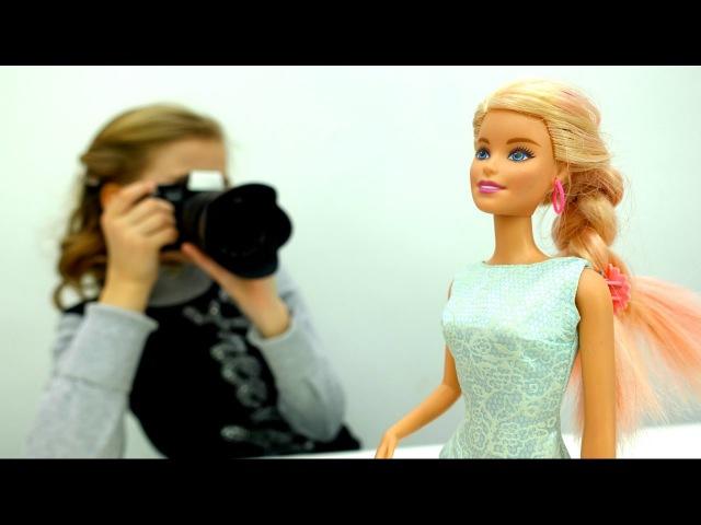 Барби меняет Платья на ФОТОСЕССИИ 📸 Игры одевалки для девочек 👗 Видео про кук ...