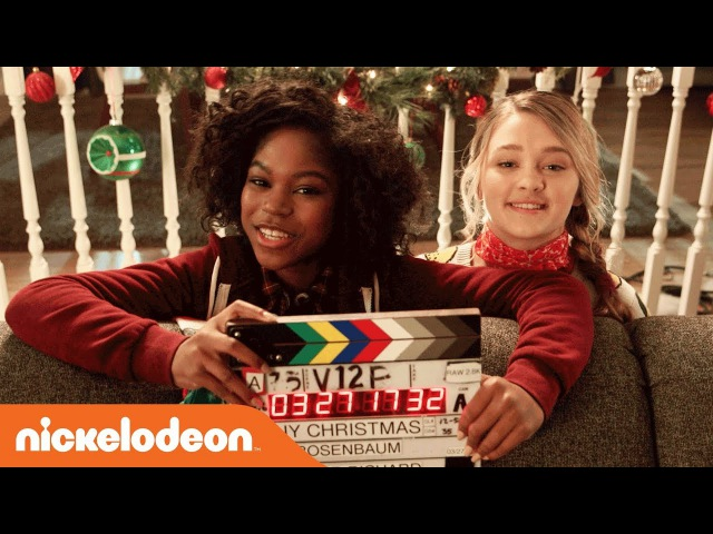BTS of 'Tiny Christmas' Movie 🎅🏻 w/ BFF's Lizzy Greene Riele Downs | Nick