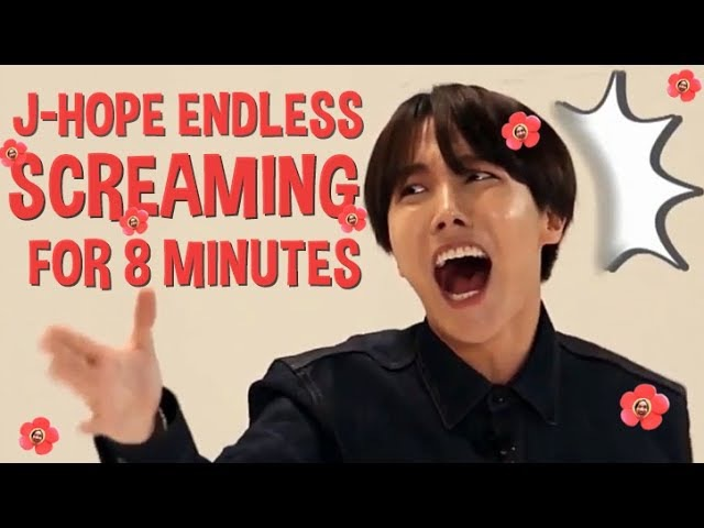 J Hope Endless Screaming for 8 minutes ARMYsHOPE кфк