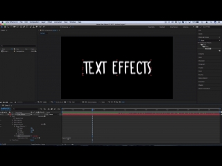 5 Great Text Effects in Adobe After Effects CC (Wiggle, Flicker  more animations) (How to Tutorial_