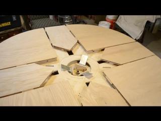 круглый раздвижной стол Wooden Expanding Table_ Final Version