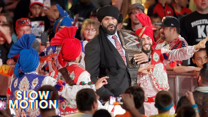 WWE QTV[☆]Relive Jinder Mahals Punjabi Celebration in[slow-motion]]☆[Слоу Моушен]☆[May 24]