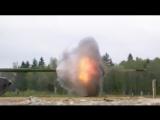 Ударные волны при выстреле из танкового орудия