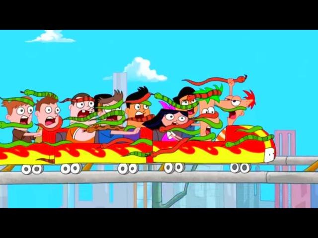 Финес и Ферб - Американские горки | Популярные мультфильмы Disney (1 Сезон 8/1 серия)