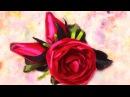 Поделки своими руками.Роза канзаши.Бутоны роз.Заколка для волос.Ribbon rose flower.
