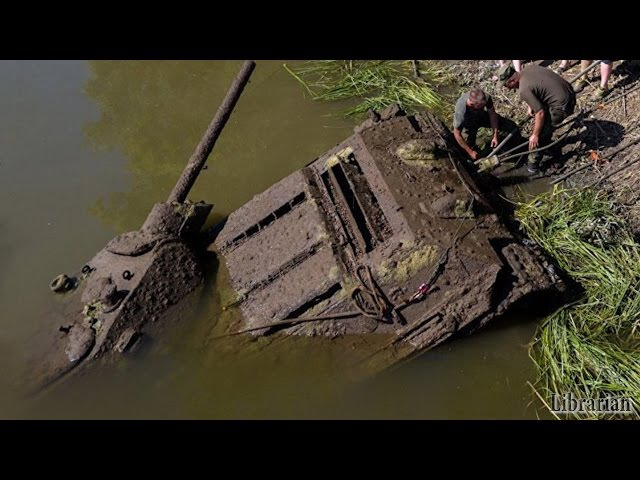 T-3476 Tank Pulled Out Of River