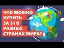 Что можно купить за $1 в разных странах мира? (Инфографика) [ The Infographics Show rus ]