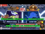 Minnesota Vikings vs. Detroit Lions  #NFL WEEK 12  Predictions Madden 18