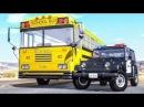 Мультики про машинки - Полицейские учения Машинки против монстер трака Новые М...