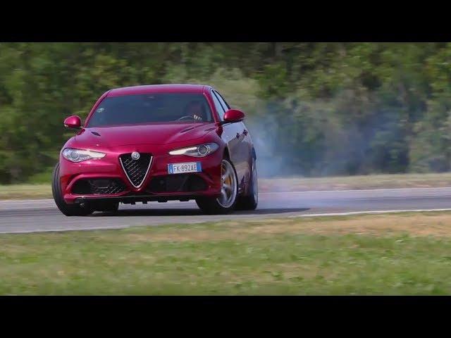 Alfa Romeo Giulia Quadrifoglio on road track by DRIVE Magazine [English subs]