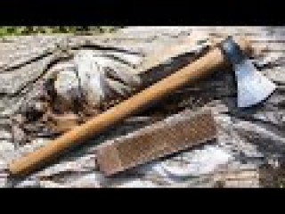 How to Make a Small Forge Welded Tomahawk Out of A Farriers Rasp