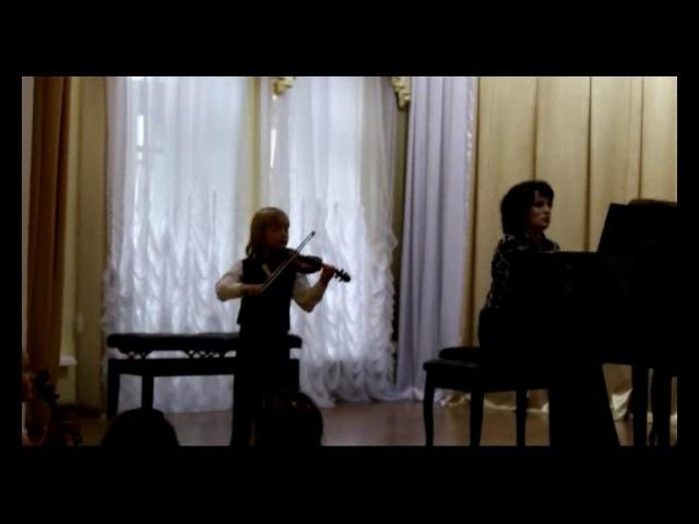 Митя Махонин (5 лет) - О.Ридинг - Концерт Соль-мажор 34, часть 1
