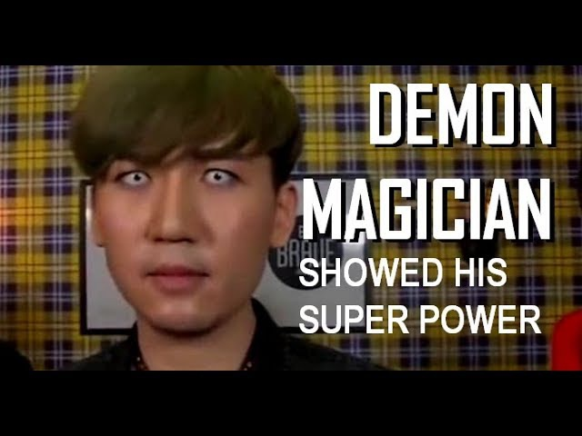 DEMONIC MAGICIAN SHOWING HIS POWER OMG WTF