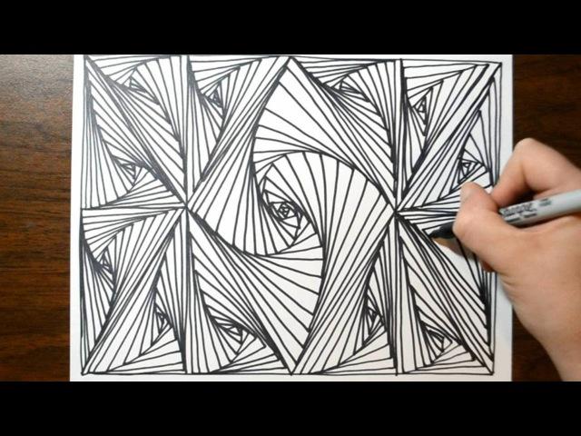 Cool Sketch Doodle Technique - Drawing a Random Pattern