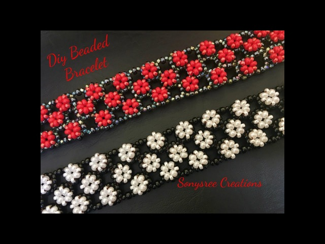 Right Angle Weave Embellished Bracelet ( Easy to Follow Tutorial) 👍🏻❣️