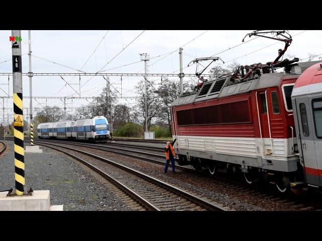 Ex 521 PORTÁŠ: mimořádné zastavení ve stanici Český Brod - 8.4.2017