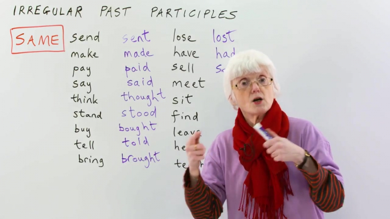 TEST YOUR ENGLISH! Irregular Past Participles