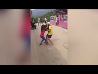 This video of girls aged five and six being encouraged to fight is shocking - YouTube