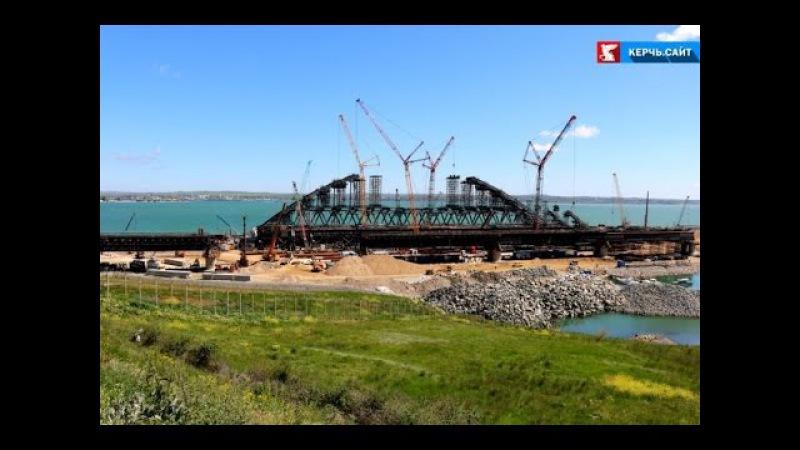 Крымский мост завершено возведение всех фарватерных опор
