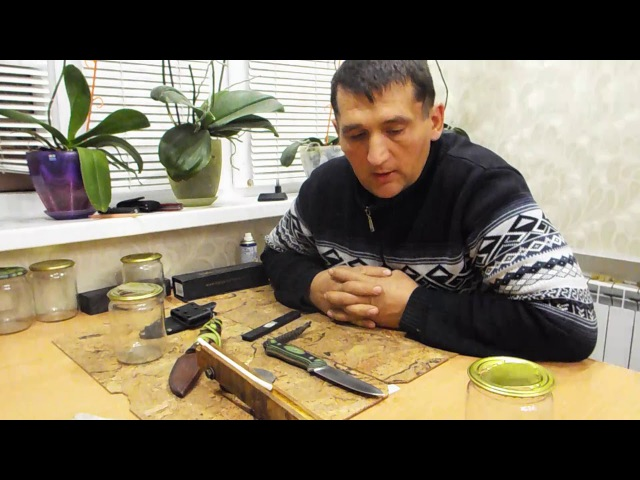 Тест ножа от ВК ELMAX по стеклу