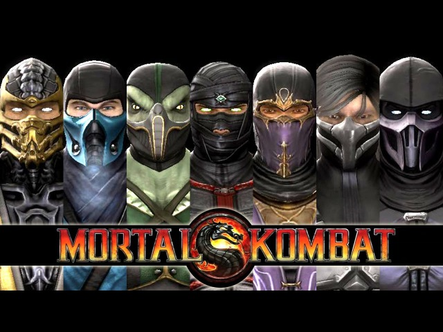 MORTAL KOMBAT 9 - ALL NINJAS' X-Rays, Fatalities and Babalities