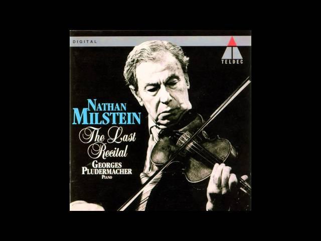 Nathan Milstein The last recital